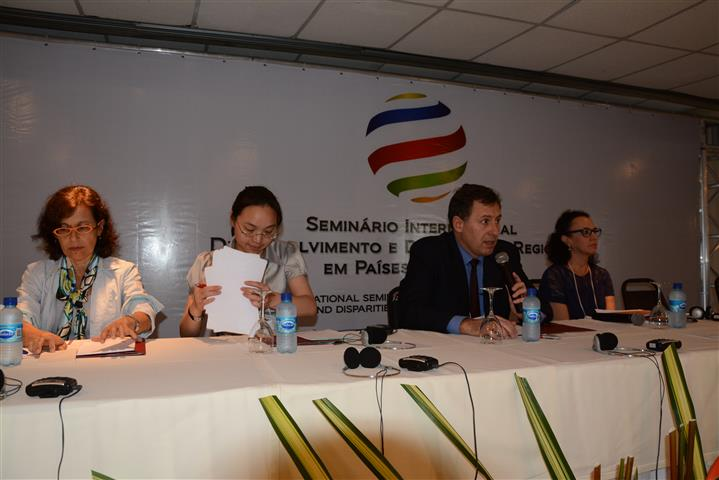 Mesa 3- Ana Cristina Fernandes, Zhouing Song-IGSNRR, Javier Vadell-PUC MG e Luciléia Colombo-UFRS